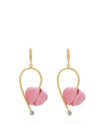 Marni Flower Drop Earrings - Womens - Pink