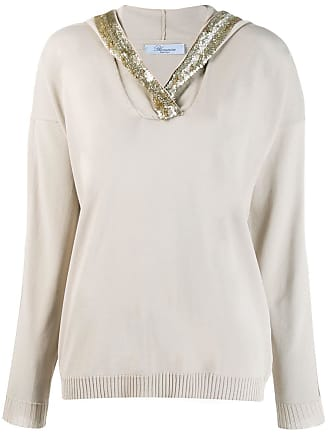 Blumarine sequin hoodie - Neutro