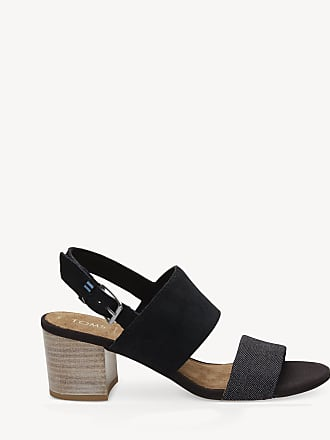d2923cd0132 Toms Womens Poppy Block Heels Sandals Black Suede Size 8 From Sole Society
