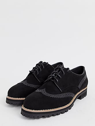New Look lace up brogue in black - Black