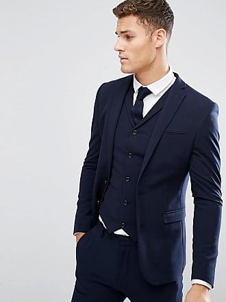 Asos Giacca da abito super skinny blu navy - Navy 65ed7d0bba5