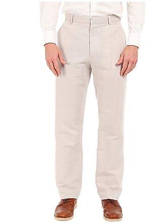 Perry Ellis Linen Suit Pants (Natural Linen) Mens Casual Pants