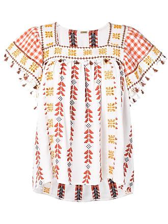 Dodo Bar Or embroidered tunic top - Branco