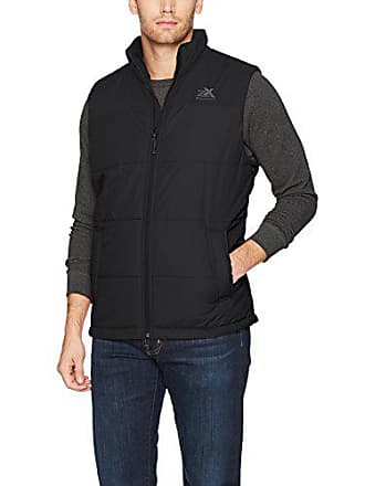 ZeroXposur Mens Block-Quilted Puffer Vest, Black, X-Large