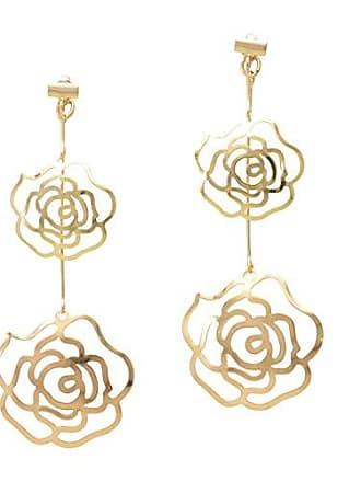 Tinna Jewelry Brinco Dourado Flores Ao Vento