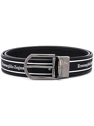 Ermenegildo Zegna logo print belt - Black