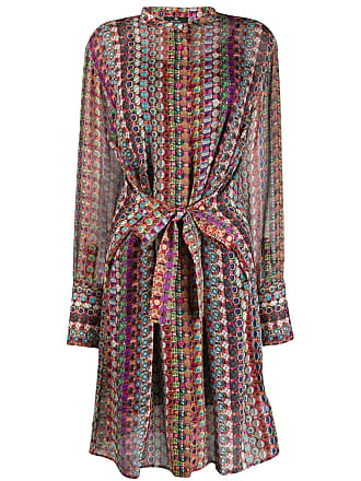 Paul Smith geometric print shirt dress - Vermelho
