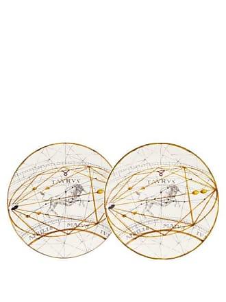 Laboratorio Paravicini Set Of Two Taurus Ceramic Dessert Plates - Multi