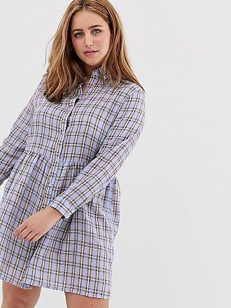 61a0b8f152ff9 Daisy Street Plus Robe chemise smockée à carreaux style vintage - Violet