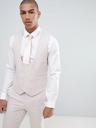 Asos Chaleco de traje ajustado de mezcla de lana en rosa de ASOS DESIGN  Wedding 24cd422dafd1