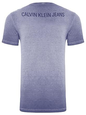 Calvin Klein CAMISETA MASCULINA LOGO FRENTE E COSTAS - AZUL 01613d4857f