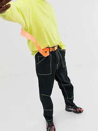 af2ef95c48386 Asos slim long ended webbing belt in neon fluro orange and matte black  d-rings