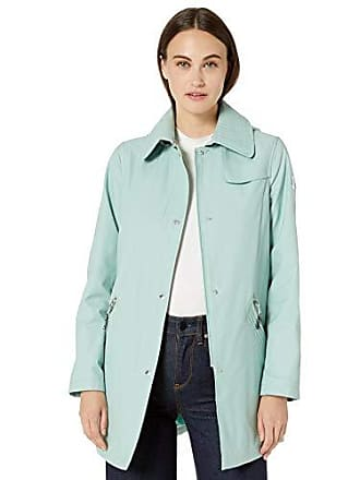 Vince Camuto Womens Hooded Mid-Weight Jacket, Blue Surf, X-Large