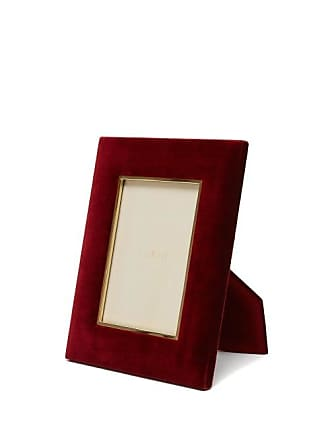 Aerin Valentina Large Velvet Photo Frame - Burgundy