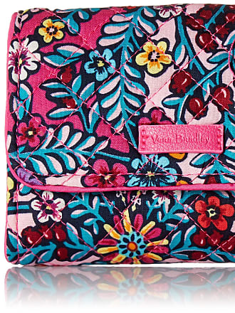Vera Bradley Womens Iconic RFID Riley Compact Wallet, Signature Cotton Kaleidoscope, One size