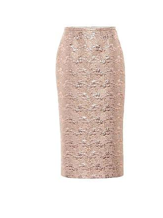 Rochas Brocade wool-blend pencil skirt