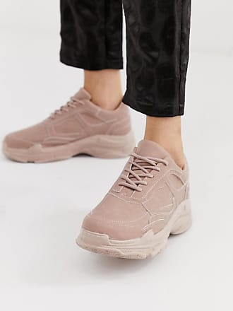 011e62fb4fa Public Desire. Blend pink color drenched chunky sneakers ...
