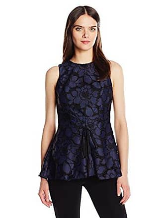 Kendall + Kylie Womens Lace Peplum Top, True Navy L
