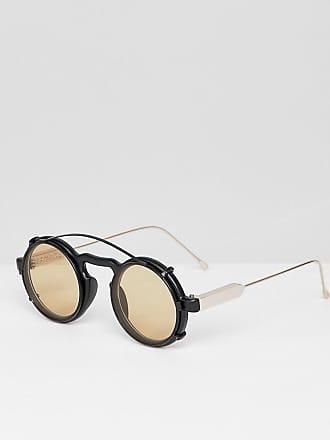 Spitfire Lunettes de soleil rondes à clipser - Noir et fauve - Noir cd18c04c94f3