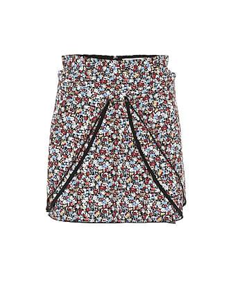 Victoria Beckham Floral crêpe miniskirt