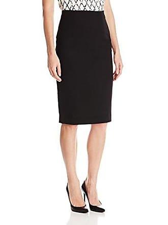 Ellen Tracy Womens Petite Size High Waist Pencil Skirt, E Black 14