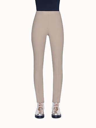 Akris Mara Full Length Jersey Pants with Front Zip Closure