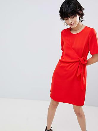 Warehouse Klänning med knytband framtill - Röd 322b9982b18c6