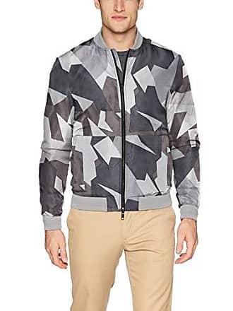 J.Lindeberg Mens Nylon Bomber Jacket, Stone Grey, Large