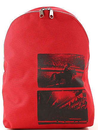 Calvin Klein Backpack for Men On Sale, Red, Canvas, 2017, one size