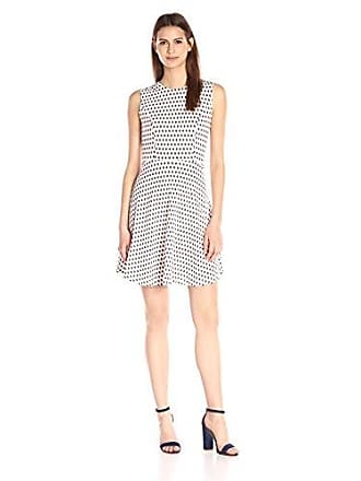 a30cadae622 French Connection Womens Bacongo Dot Dress, Daisy White/Multi, 4
