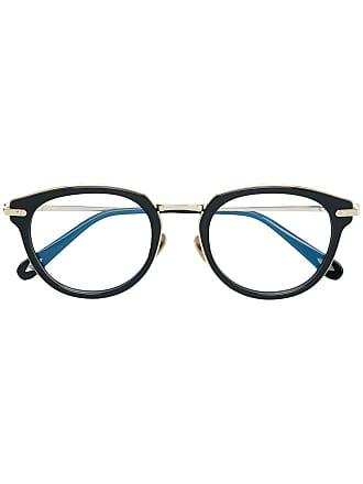 Brioni Armação de óculos arredondada - Preto