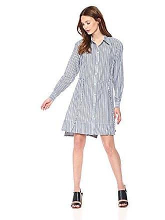 fea28d7ba7a French Connection Womens Tie Waist Detail Shirt Dress, Lobelia Light/Linen  White, 6