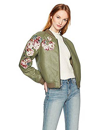 Joe's Womens Pu Bomber Jacket, Forest, XS