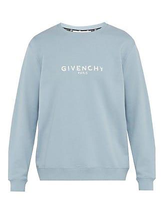 6eed3036622d8 Givenchy Logo Printed Cotton Sweatshirt - Mens - Light Blue