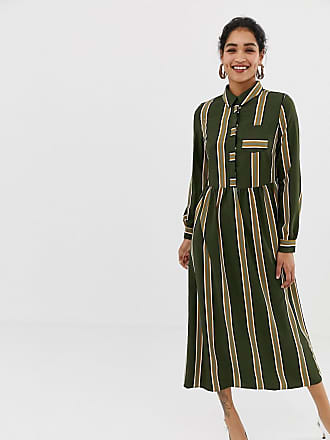 Vila stripe maxi shirt dress - Multi