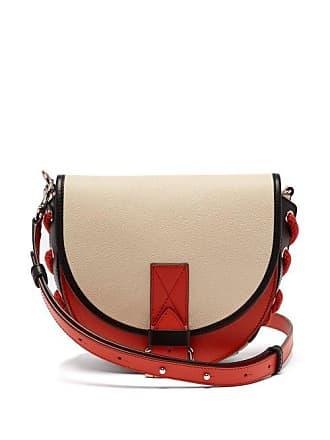 J.W.Anderson Jw Anderson - Bike Leather Cross Body Bag - Womens - Cream Multi