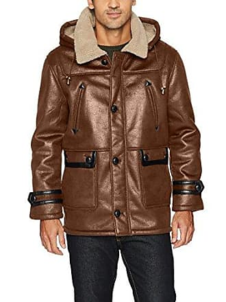 f1025082e17b Excelled Excelled Mens Faux Shearling Hooded Jacket