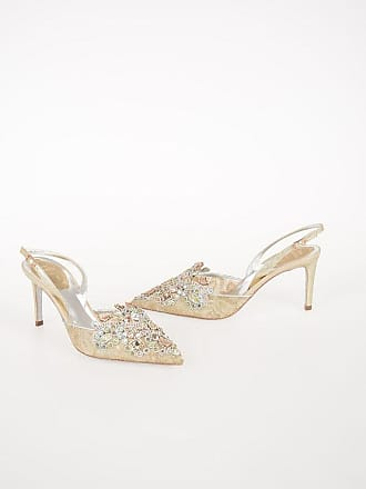 Rene Caovilla 8cm Jewel Embroidered Sabot with Ayers Heel size 35