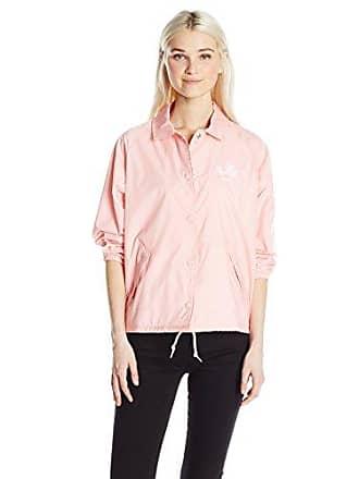 Obey Juniors Caviar Coaches Jacket, Pink, L