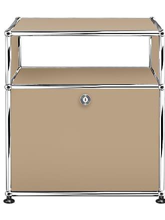 USM Sideboard mit Klapptür H 56,5cm - USM beige/52x37x56,5cm/1 offenes Fach oben