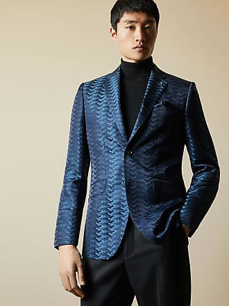 Ted Baker Pashion Jacquard Blazer in Teal DONNELL, Mens Clothing