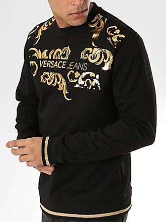 5c61b6bb2d04 Versace Jeans Couture Sweat Crewneck Tup300 B7GTA7FU Noir Doré