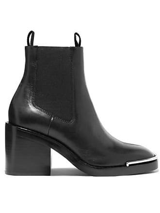 Alexander Wang Hailey Leather Ankle Boots - Black