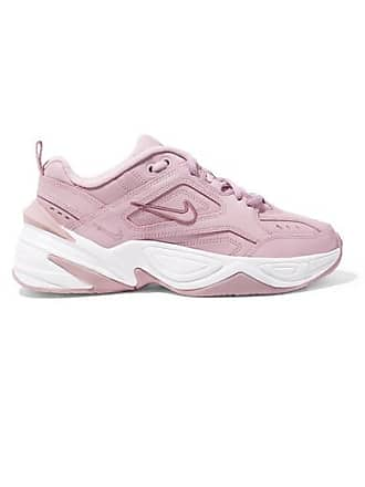 Nike M2k Tekno Leather And Mesh Sneakers - Lavender