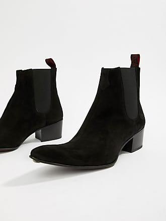 68d082af03bc40 Jeffery West Sylvian - Kubanische Stiefel aus schwarzem Wildleder - Schwarz