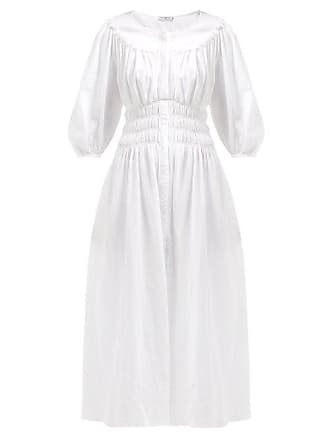 fa9c93033f6 Three Graces London Arabella Shirred Cotton Voile Midi Dress - Womens -  White