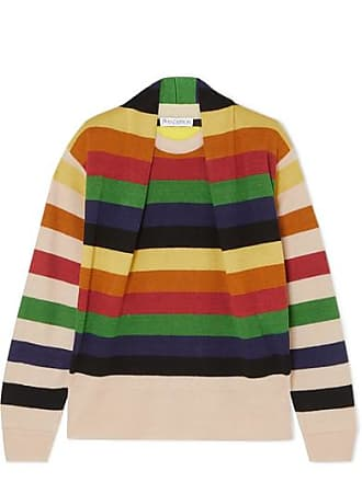 J.W.Anderson Ruched Striped Linen Sweater - Blue