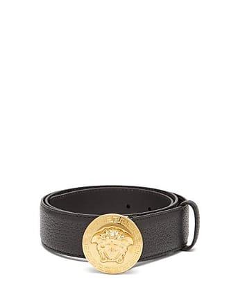 Versace Medusa Buckle Belt - Mens - Black Gold