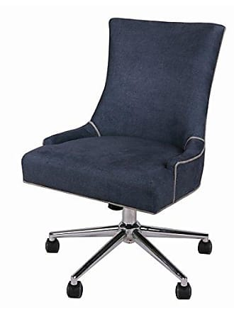 New Pacific Direct 1900085-157 Charlotte Office Chair, Denim Slate