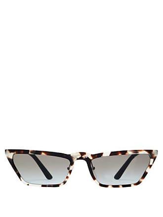 e5dbfa82db259 Prada Ultravox Rectangular Acetate Sunglasses - Womens - Tortoiseshell